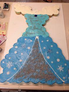 Frozen dress pull apart cake
