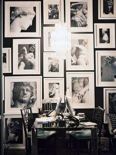 close spacing between photos gallery wall
