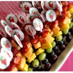 Fruit rainbow kabob