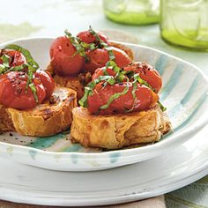 Snacks Under 150 Calories | Bruschetta with Warm Tomatoes | CookingLight.com