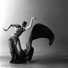 Carmen De Lavallade  loisgreenfield    love the way the fabric mirrors her