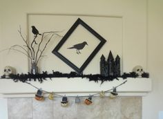 Fall Mantle decor entry