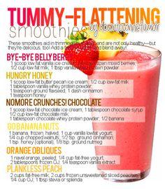 Tummy flattening recipes