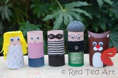 more cardboard tube people