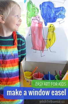 Make a simple window easel and get creating with this easy painting activity.