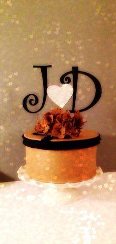 #MONOGRAM #CAKE TOPPER Custom by OHONEFINEDAY on Etsy, $38.00 monogram cake, cake toppers