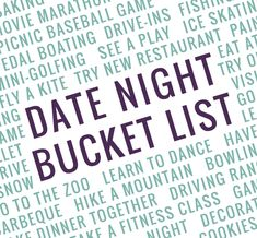 Date Night Bucket Li