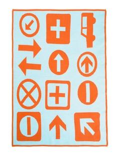 Sky Signs Graphic Knit Blanket / DwellStudio Kids