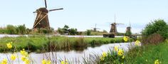 Kinderdijk is a village community in South Holland, which includes a set of 19 windmills and other ingenious technologies built in the 18th century to control flooding.