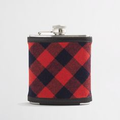 Buffalo check flannel flask
