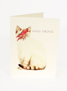 david meowie card | Mister Peebles [i need this]