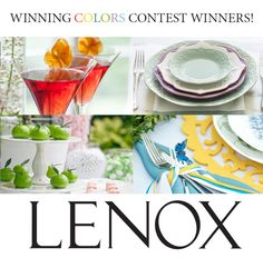 WINNING COMBINATIONS! Congratulations to Lauren Jones and Elizabeth Langston, the winners of the Lenox Winning Colors Contest. Lauren and Elizabeth can send an email to socialmedia@lenox.com to claim their prizes.