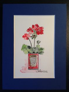 Tomato soup anyone?  Watercolour on paper by Sheila Horrocks