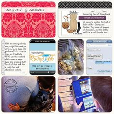 Digital Project Life - I love the incorporation of the text messages screen shot!