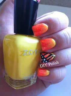Butterfly Mani using Zoya Nail Polish in Pippa, Zoya Paz, Zoya Rica and Zoya Purity!