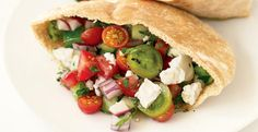 Greek Salad Pita Sandwiches | KitchenDaily.com