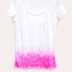 Dipped & Speckled: DIY DYE Idea.