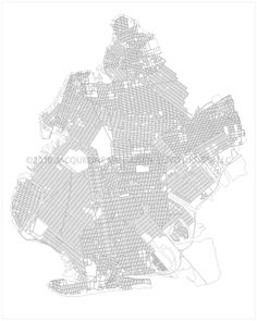 Brooklyn Vector Map by Jacqueline VanDusen, via Behance #brooklyn #nyc #map #vector #design