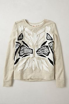 Applique Patois Pullover #anthropologie