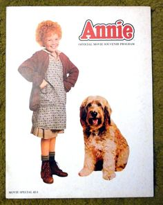 "comic strip BROADWAY musical comes to life --- "" ANNIE ""  /  1982 movie program"