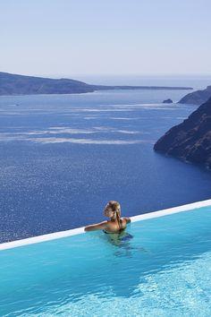 blue, pool, cski hotel, dream destinations, resort, blog, place, santorini, aspen