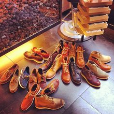 Reorganizing the shop #redwing #redwings #redwingshoes #boots #amsterdam #shoes