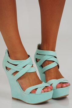 Mint Wedges For Summer 2014 Great Look