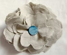 fabric flowers Make an Easy Fabric Flower Brooch