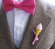 www.weddbook.com everything about wedding ♥ Unique Boutonniere for Groom | Damat Yaka Cicegi #pink #boutonniere #icecream