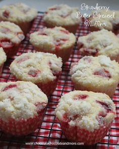 Strawberry Butter Streusel Muffins