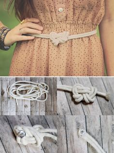 DIY : Make a rope belt. I would use neon rope for something more colorful.