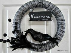 24 Cottonwood Lane: Nevermore Halloween Wreath