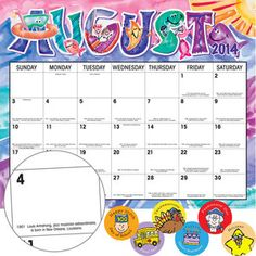 Monthly Calendar Pages And Stickers 2014-2015 Intermediate
