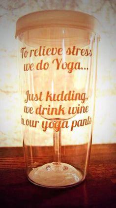 gift, yoga pant, drink wine, wine tumbler