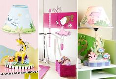 This selection of playful lighting solutions and accents will let kids see their spaces in a new light. Sports-themed table lamps take boys' bedrooms to the next level, pretty purple chandeliers add feminine flair, and animal wall decals add a touch of safari style.http://www.wayfair.com/daily-sales/Colorful-Kids%27-Lighting-%26-More~E13393.html?refid=SBP.rBAZEVNVWcwYhSRdP2-6ApUkY5ySmErCvdKKm2pl0qI