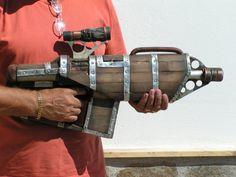 steampunk big daddy gun