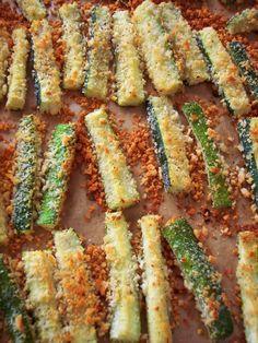 "PROUD ITALIAN COOK: Open Faced Portobello Burger with Zucchini ""Fries"""