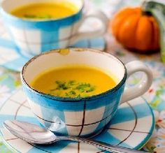 "Butternut Squash & Cauliflower Soup: ""A healthy, vegetarian soup. If you like curry, add a teaspoon of curry powder before you purée the soup."" -InnerHarmonyNutrition"