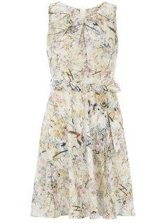 Pretty patterned pastel bridesmaid dress