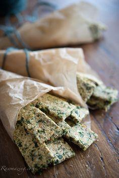 """Cheesy"" Kale Crackers"