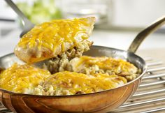 Cheesy Chicken Stuffing Skillet