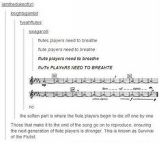 Flute players need to breathe!