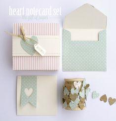 Valentine's Gift Idea : Notecard Set