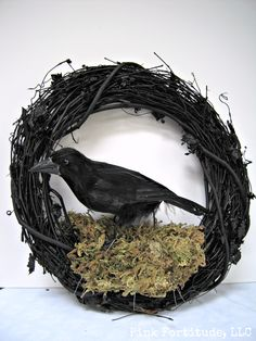 wreath with crow