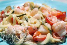 Sandy's Kitchen: Zucchini Pasta in a Lemon Cream Sauce