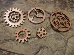 Wooden gears, nice gear designs***Research for possible future project.