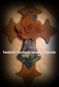 Decorative Wall Cross with Burlap