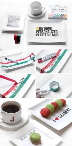 I Spy DIY: DIY HOME | Personalized Platter & Mug