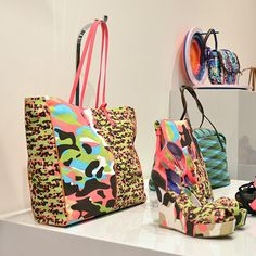 #MMissoni | #Multicolor #Camouflage Shopper & Wedges | Summer 2014 Collection