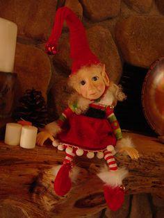 Elf Sitting On A Shelf Elf Sitters Santa's Helpers Christmas Elves Dolls Christmas elf doll. $49.99, via Etsy.